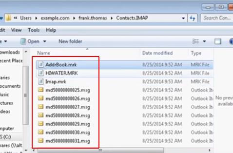 Msg Calendar.Mdaemon Addrbook Mrk Calendar Mrk Hiwater Mrk Files An Overview