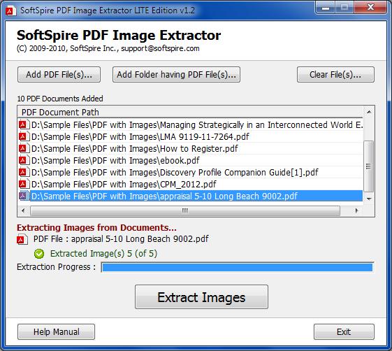 Windows 7 PDF Photo Extractor 2.0 full