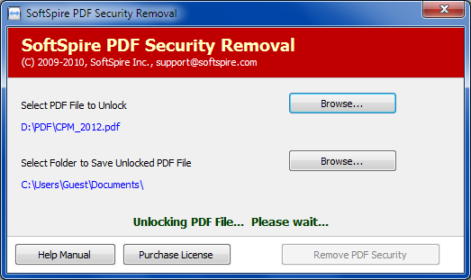 Remove PDF Print Security screenshot
