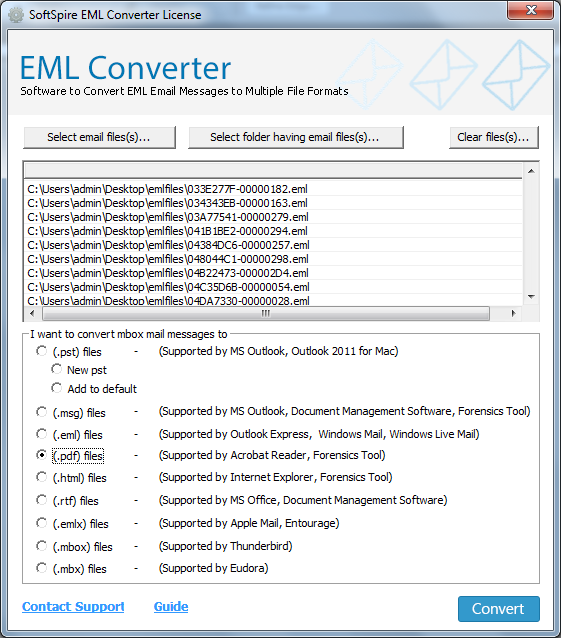 Tool To Convert EML Files To PST, MBOX