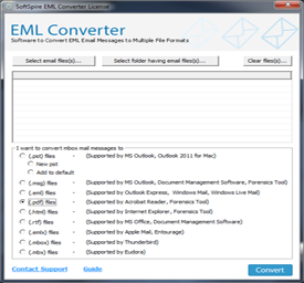 Launch EML File Converter