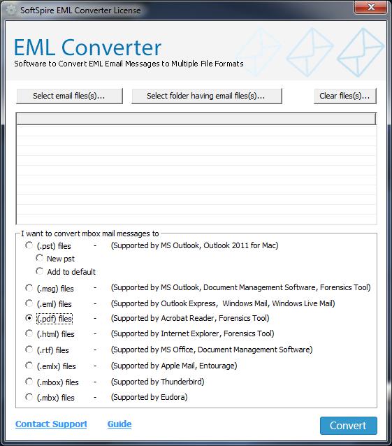 SoftSpire EML Converter full screenshot
