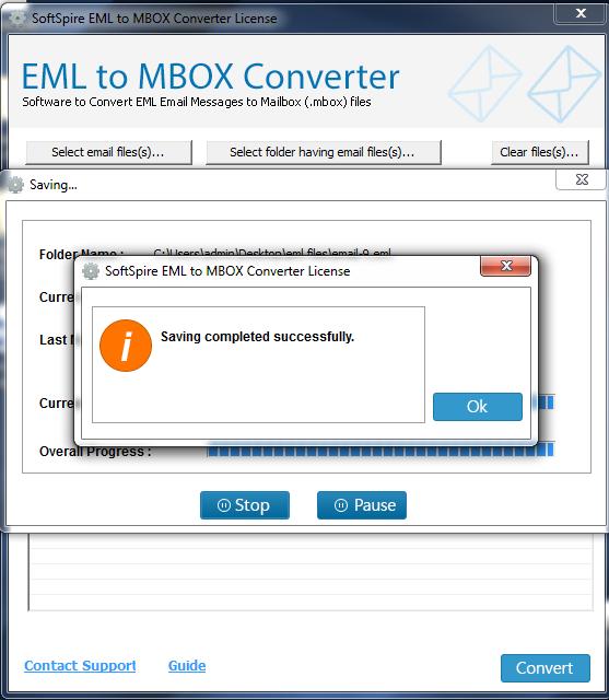 SoftSpire EML to MBOX Converter