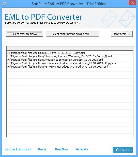 Windows 7 SoftSpire EML to PDF Converter 6.9 full