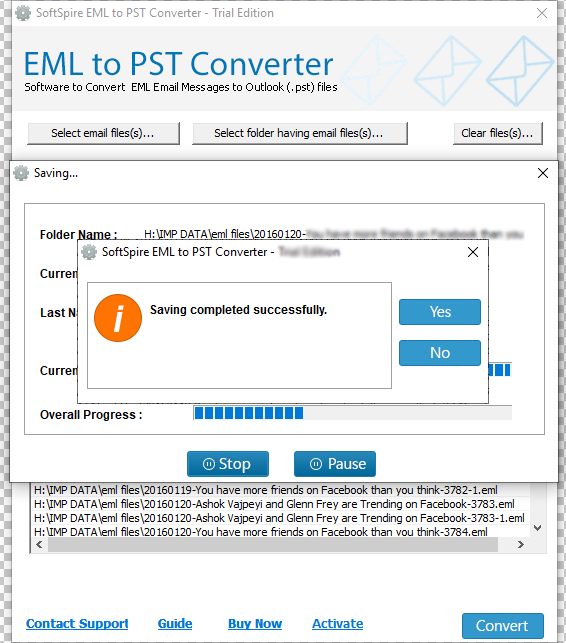 SoftSpire EML to PST Converter