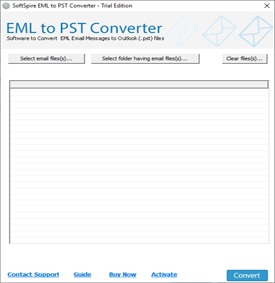 Launch EML to PST Converter