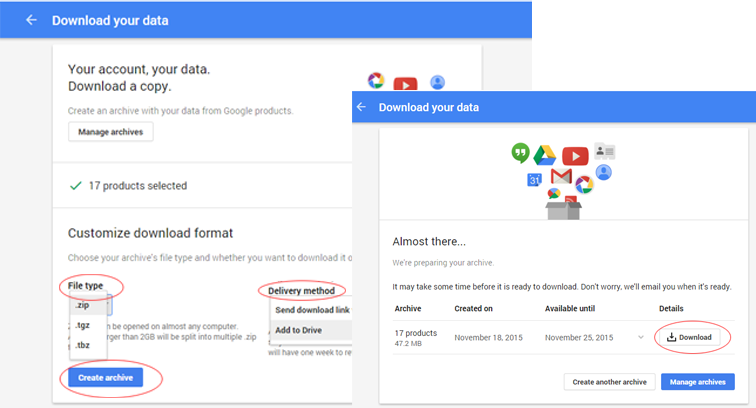 how to move gmail to google drive file