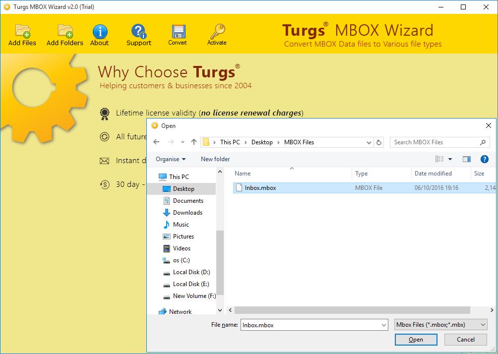 MBOX to CSV full screenshot
