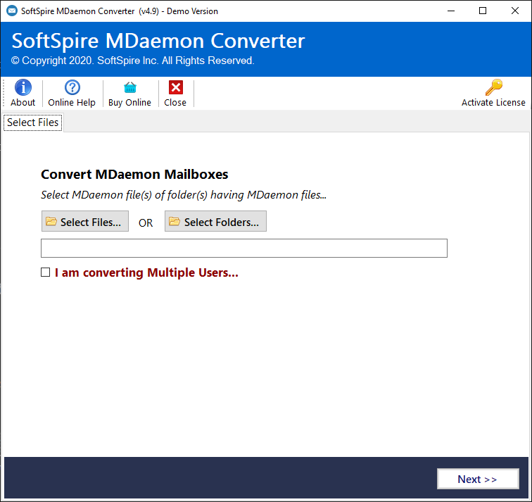 MDaemon to PST Converter full screenshot