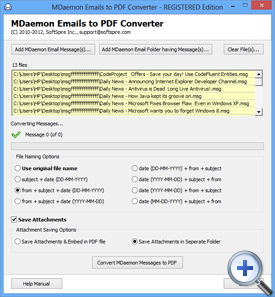 Click on convert button to save MDaemon as PDF