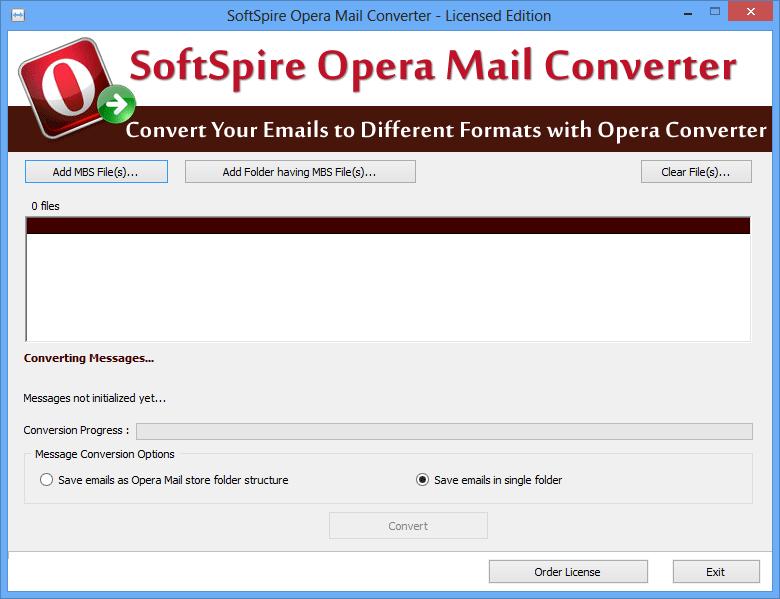 SoftSpire Opera Mail Converter