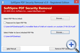 Click on Unlock PDF Security