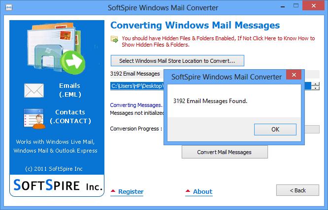 SoftSpire Windows Mail Converter