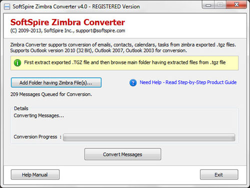 zimbra export pst software