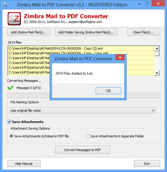 Free download Zimbra Mail To Mac Mail Converter current