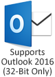 Software supports Outlook 2016 (32-bit)