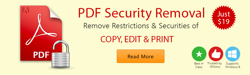 PDF Security Removal Tool