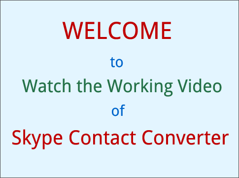Skype Contacts Converter
