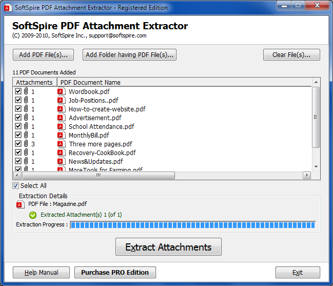 Batch Extract Attachments from PDF file