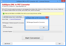 Conversion of EML files
