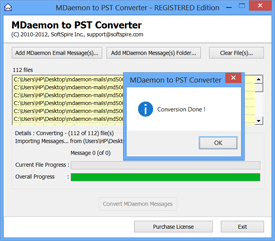 MDaemon to PST Conversion