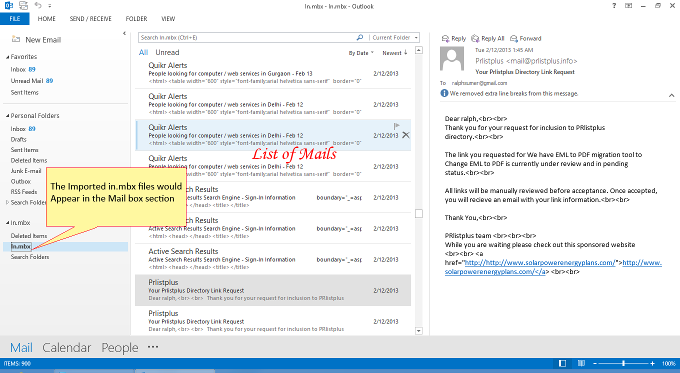 how to make emails go into folder outlook
