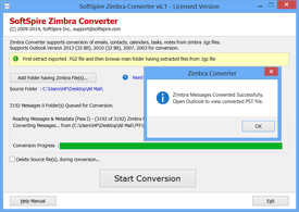 Zimbra to Outlook conversion done