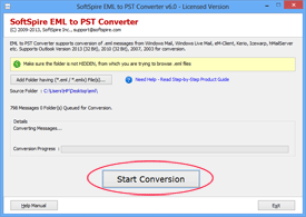 start conversion process